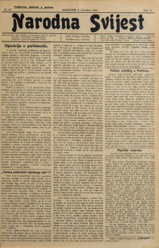 Narodna svijest, 1923/47