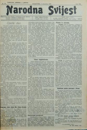 Narodna svijest, 1926/49