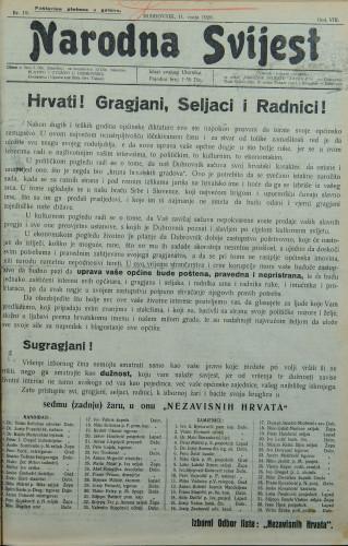 Narodna svijest, 1926/19
