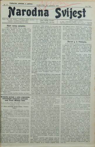 Narodna svijest, 1926/37