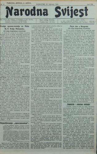 Narodna svijest, 1926/8