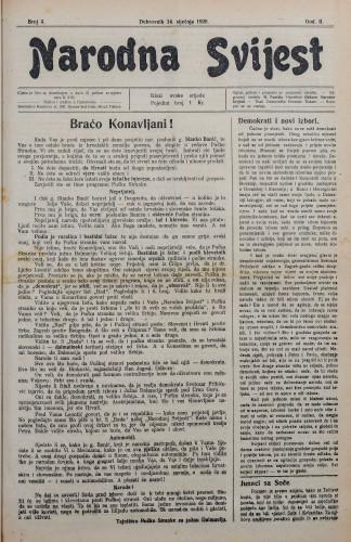 Narodna svijest, 1920/3