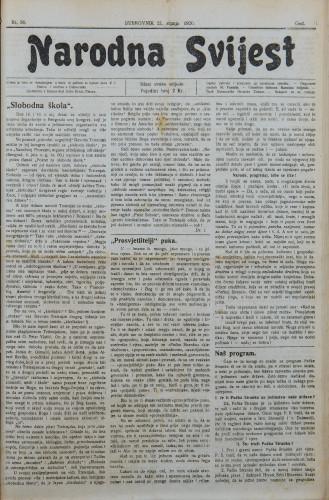 Narodna svijest, 1920/30