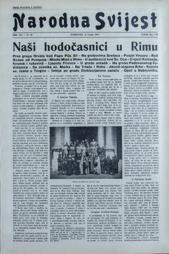 Narodna svijest, 1939/29