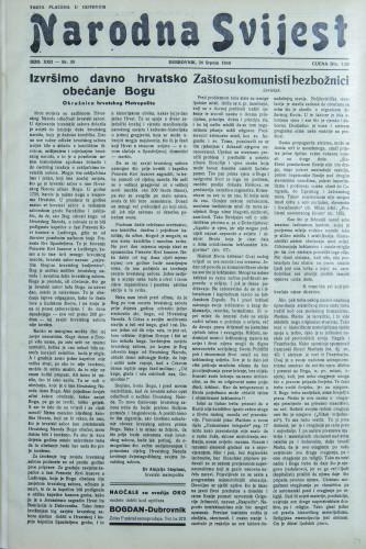 Narodna svijest, 1940/30