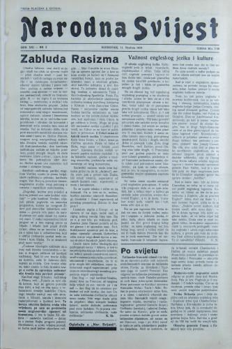 Narodna svijest, 1939/2