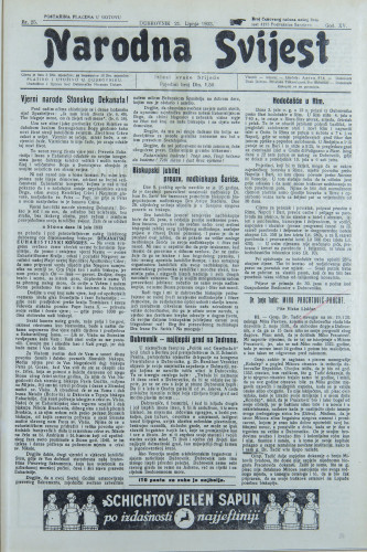 Narodna svijest, 1933/25