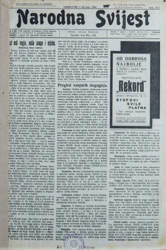 Narodna svijest, 1934/1