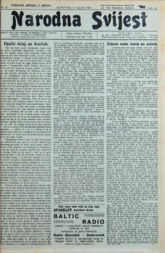 Narodna svijest, 1928/31