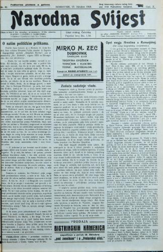 Narodna svijest, 1928/42