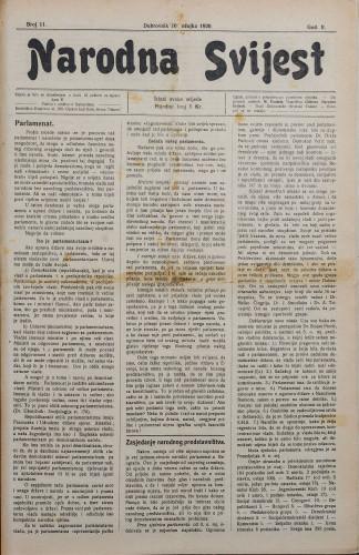 Narodna svijest, 1920/11