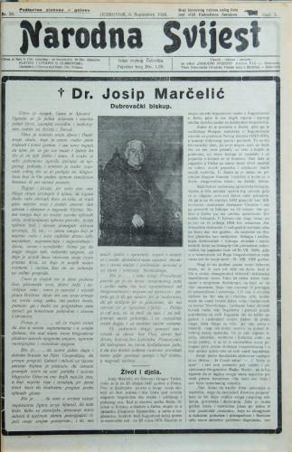 Narodna svijest, 1928/36