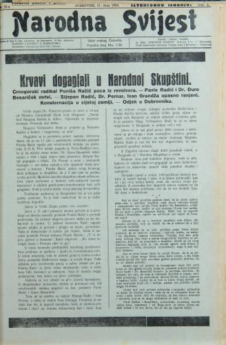 Narodna svijest, 1928/25.a