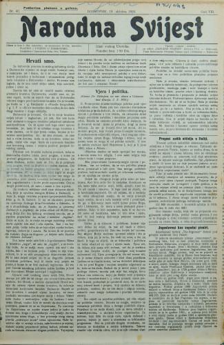 Narodna svijest, 1926/42