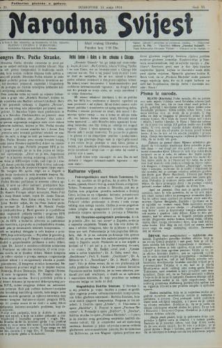 Narodna svijest, 1924/21