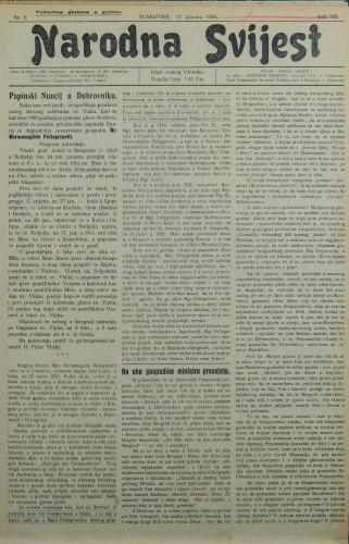 Narodna svijest, 1926/2
