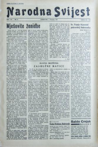 Narodna svijest, 1937/52