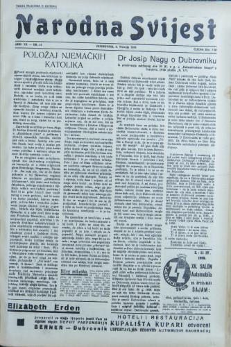 Narodna svijest, 1938/14