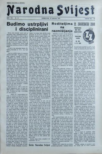 Narodna svijest, 1939/34