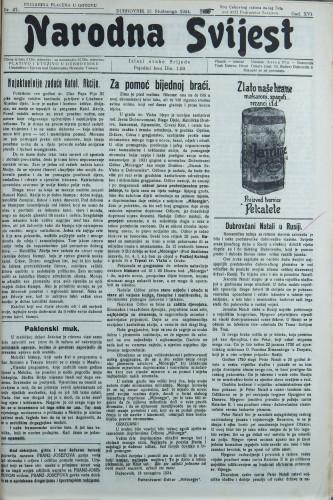 Narodna svijest, 1934/47