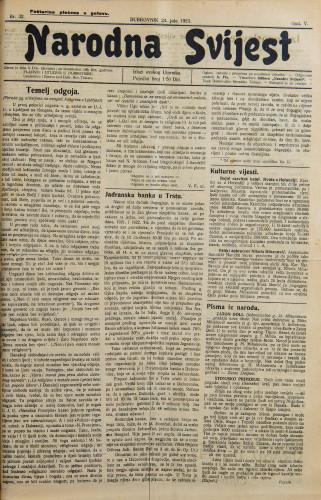 Narodna svijest, 1923/32