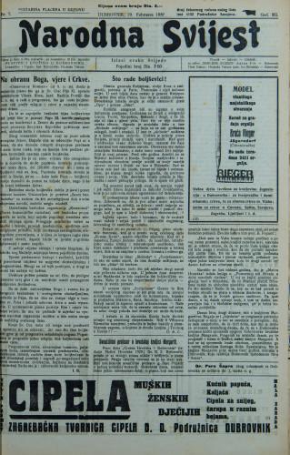 Narodna svijest, 1930/7