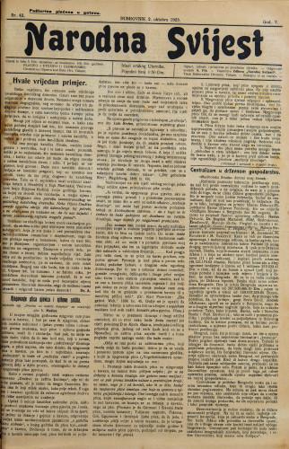 Narodna svijest, 1923/42
