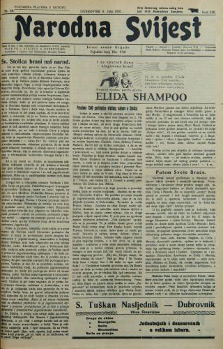 Narodna svijest, 1931/28