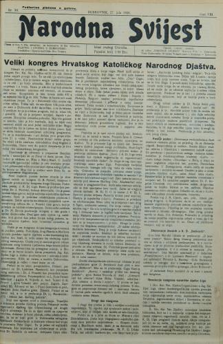 Narodna svijest, 1926/30