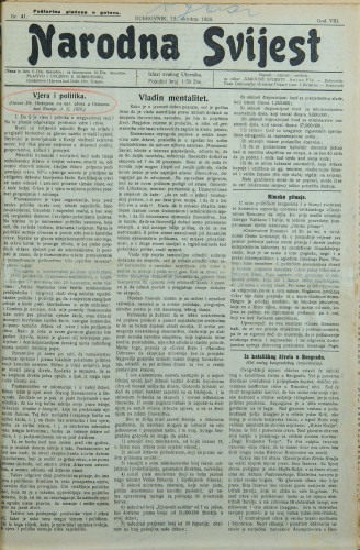 Narodna svijest, 1926/41