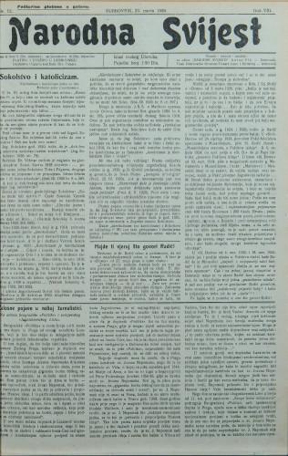 Narodna svijest, 1926/12