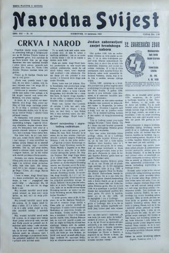 Narodna svijest, 1939/33