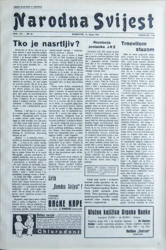 Narodna svijest, 1937/40