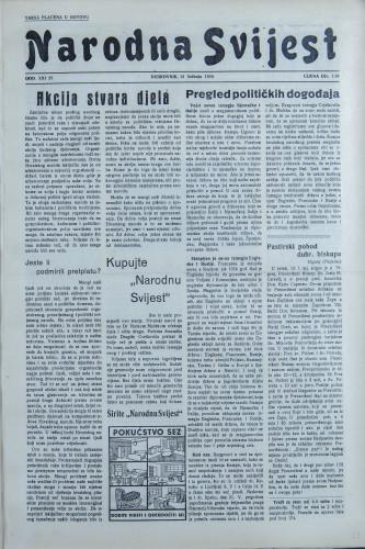 Narodna svijest, 1939/22