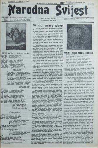 Narodna svijest, 1934/5