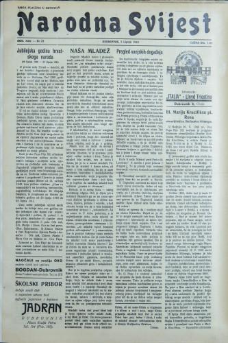 Narodna svijest, 1940/23