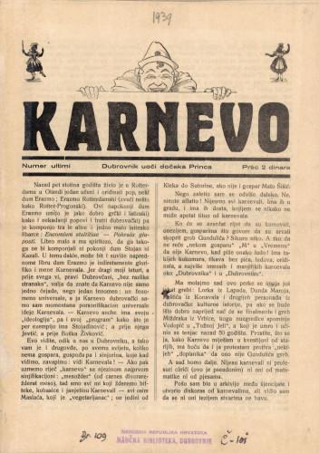Karnevo/Numer ultimi