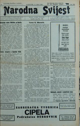 Narodna svijest, 1930/10