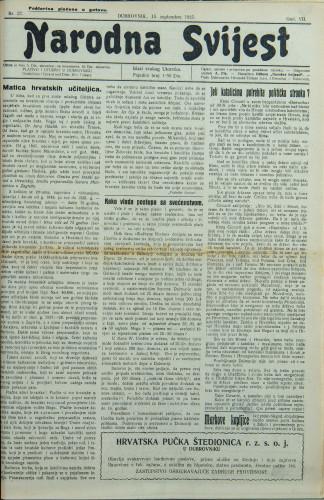 Narodna svijest, 1925/37