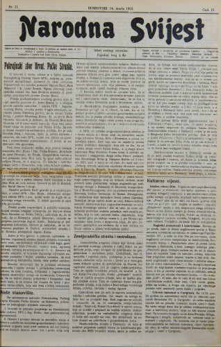 Narodna svijest, 1922/11