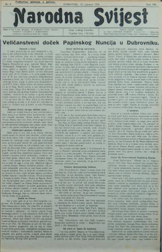 Narodna svijest, 1926/4