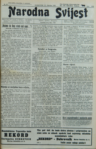Narodna svijest, 1931/43