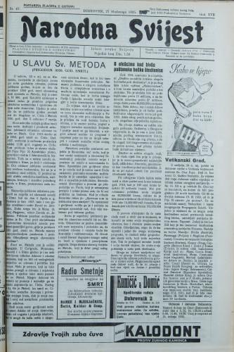 Narodna svijest, 1935/47