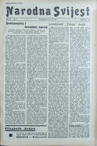 Narodna svijest, 1938/16