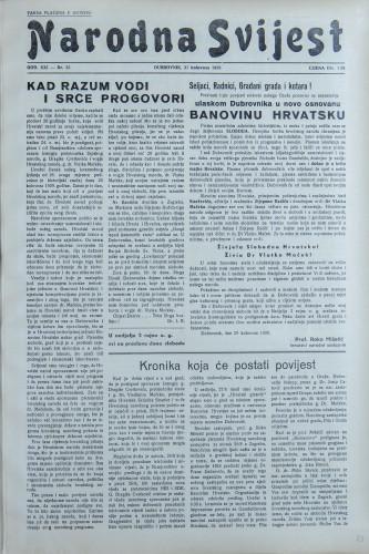 Narodna svijest, 1939/35