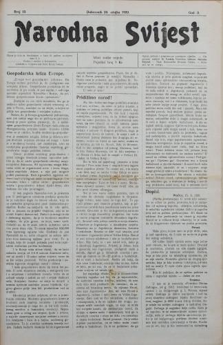 Narodna svijest, 1920/13