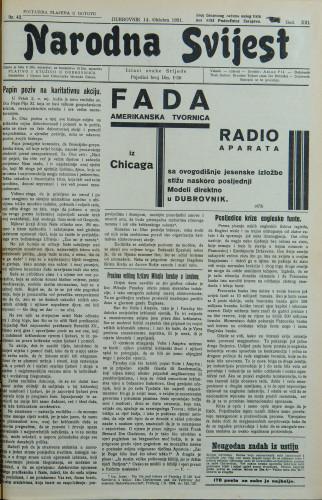 Narodna svijest, 1931/42