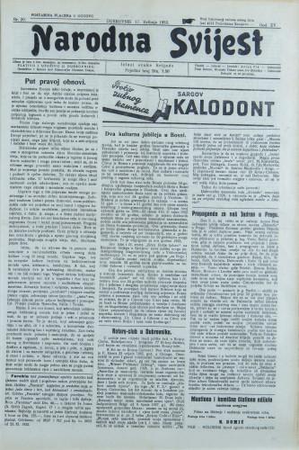 Narodna svijest, 1933/20