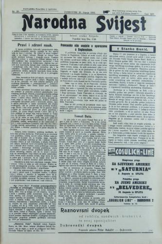 Narodna svijest, 1932/29