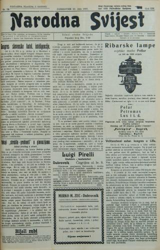 Narodna svijest, 1931/30
